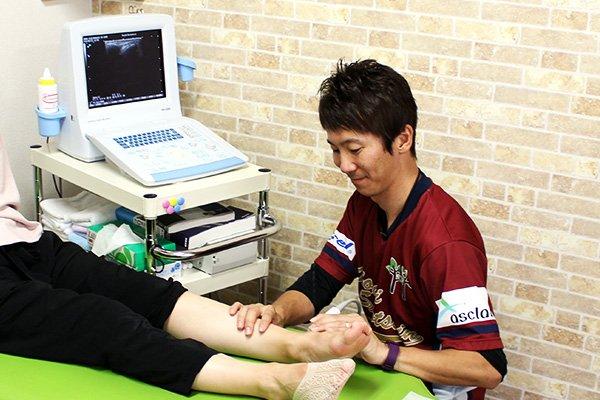 スポーツによるケガ・障害の治療風景